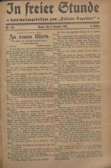 """In Freier Stunde : Unterhaltungsbeilage zum """"Posener Tageblatt"""". Jg.2, Nr. 232 (9 Oktober 1928)"""