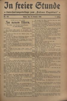 """In Freier Stunde : Unterhaltungsbeilage zum """"Posener Tageblatt"""". Jg.2, Nr. 233 (10 Oktober 1928)"""