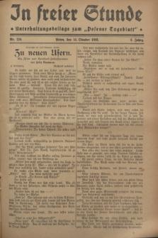 """In Freier Stunde : Unterhaltungsbeilage zum """"Posener Tageblatt"""". Jg.2, Nr. 234 (11 Oktober 1928)"""