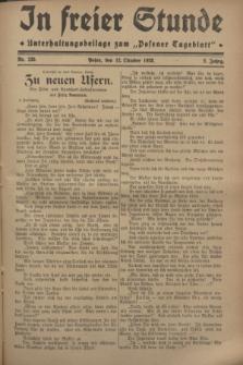 """In Freier Stunde : Unterhaltungsbeilage zum """"Posener Tageblatt"""". Jg.2, Nr. 235 (12 Oktober 1928)"""