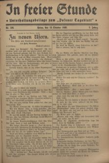 """In Freier Stunde : Unterhaltungsbeilage zum """"Posener Tageblatt"""". Jg.2, Nr. 236 (13 Oktober 1928)"""