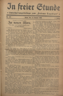 """In Freier Stunde : Unterhaltungsbeilage zum """"Posener Tageblatt"""". Jg.2, Nr. 237 (14 Oktober 1928)"""