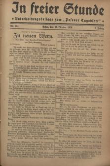 """In Freier Stunde : Unterhaltungsbeilage zum """"Posener Tageblatt"""". Jg.2, Nr. 241 (19 Oktober 1928)"""