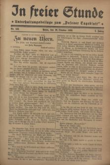 """In Freier Stunde : Unterhaltungsbeilage zum """"Posener Tageblatt"""". Jg.2, Nr. 242 (20 Oktober 1928)"""
