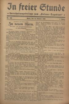 """In Freier Stunde : Unterhaltungsbeilage zum """"Posener Tageblatt"""". Jg.2, Nr. 243 (21 Oktober 1928)"""