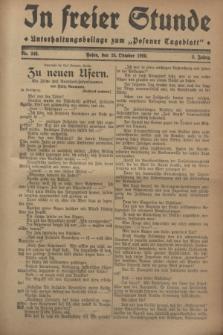 """In Freier Stunde : Unterhaltungsbeilage zum """"Posener Tageblatt"""". Jg.2, Nr. 245 (24 Oktober 1928)"""
