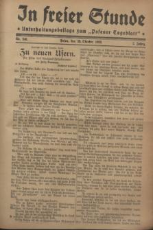 """In Freier Stunde : Unterhaltungsbeilage zum """"Posener Tageblatt"""". Jg.2, Nr. 246 (25 Oktober 1928)"""