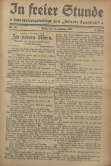 """In Freier Stunde : Unterhaltungsbeilage zum """"Posener Tageblatt"""". Jg.2, Nr. 247 (26 Oktober 1928)"""