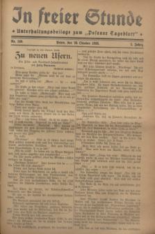 """In Freier Stunde : Unterhaltungsbeilage zum """"Posener Tageblatt"""". Jg.2, Nr. 249 (28 Oktober 1928)"""