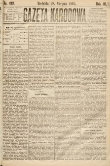 Gazeta Narodowa. 1864, nr197