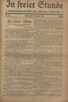 """In Freier Stunde : Unterhaltungsbeilage zum """"Posener Tageblatt"""". Jg.2, Nr. 251 (31 Oktober 1928)"""