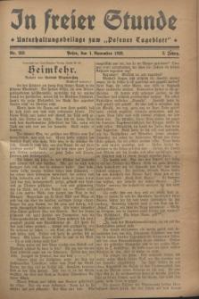 """In Freier Stunde : Unterhaltungsbeilage zum """"Posener Tageblatt"""". Jg.2, Nr. 252 (1 November 1928)"""