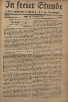 """In Freier Stunde : Unterhaltungsbeilage zum """"Posener Tageblatt"""". Jg.2, Nr. 253 (3 November 1928)"""