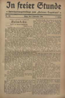 """In Freier Stunde : Unterhaltungsbeilage zum """"Posener Tageblatt"""". Jg.2, Nr. 255 (6 November 1928)"""