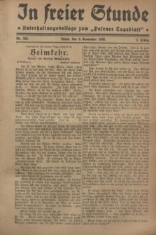"""In Freier Stunde : Unterhaltungsbeilage zum """"Posener Tageblatt"""". Jg.2, Nr. 258 (9 November 1928)"""