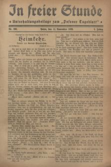 """In Freier Stunde : Unterhaltungsbeilage zum """"Posener Tageblatt"""". Jg.2, Nr. 260 (11 November 1928)"""