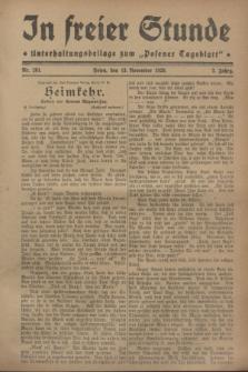 """In Freier Stunde : Unterhaltungsbeilage zum """"Posener Tageblatt"""". Jg.2, Nr. 261 (13 November 1928)"""