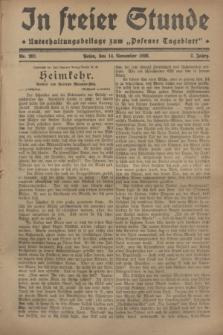 """In Freier Stunde : Unterhaltungsbeilage zum """"Posener Tageblatt"""". Jg.2, Nr. 262 (14 November 1928)"""