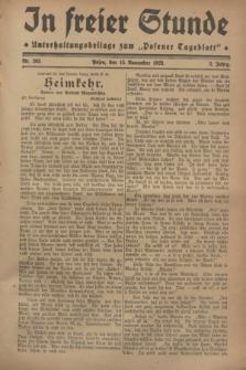 """In Freier Stunde : Unterhaltungsbeilage zum """"Posener Tageblatt"""". Jg.2, Nr. 263 (15 November 1928)"""