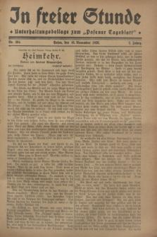 """In Freier Stunde : Unterhaltungsbeilage zum """"Posener Tageblatt"""". Jg.2, Nr. 264 (16 November 1928)"""