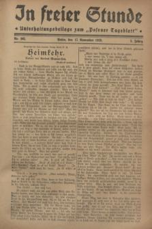 """In Freier Stunde : Unterhaltungsbeilage zum """"Posener Tageblatt"""". Jg.2, Nr. 265 (17 November 1928)"""