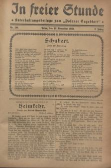 """In Freier Stunde : Unterhaltungsbeilage zum """"Posener Tageblatt"""". Jg.2, Nr. 266 (18 November 1928)"""