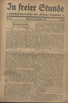 """In Freier Stunde : Unterhaltungsbeilage zum """"Posener Tageblatt"""". Jg.2, Nr. 267 (20 November 1928)"""