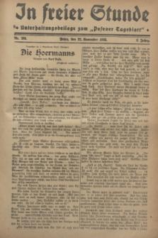"""In Freier Stunde : Unterhaltungsbeilage zum """"Posener Tageblatt"""". Jg.2, Nr. 269 (22 November 1928)"""