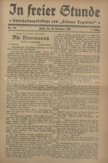 """In Freier Stunde : Unterhaltungsbeilage zum """"Posener Tageblatt"""". Jg.2, Nr. 270 (23 November 1928)"""