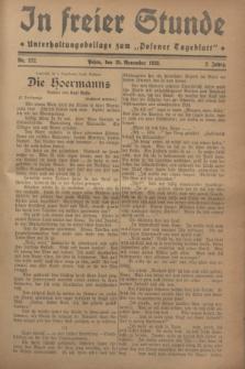 """In Freier Stunde : Unterhaltungsbeilage zum """"Posener Tageblatt"""". Jg.2, Nr. 272 (25 November 1928)"""