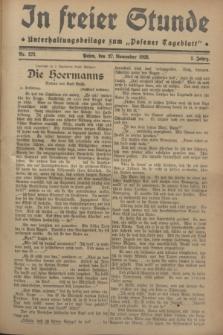 """In Freier Stunde : Unterhaltungsbeilage zum """"Posener Tageblatt"""". Jg.2, Nr. 273 (27 November 1928)"""