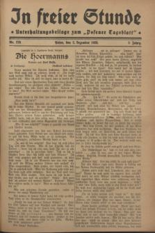 """In Freier Stunde : Unterhaltungsbeilage zum """"Posener Tageblatt"""". Jg.2, Nr. 278 (2 Dezember 1928)"""