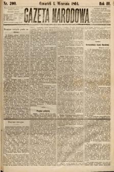 Gazeta Narodowa. 1864, nr200