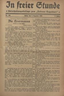 """In Freier Stunde : Unterhaltungsbeilage zum """"Posener Tageblatt"""". Jg.2, Nr. 280 (5 Dezember 1928)"""