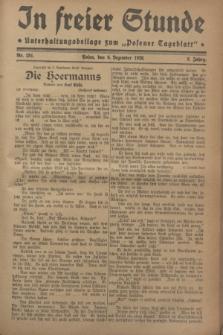 """In Freier Stunde : Unterhaltungsbeilage zum """"Posener Tageblatt"""". Jg.2, Nr. 281 (6 Dezember 1928)"""