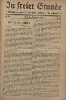 """In Freier Stunde : Unterhaltungsbeilage zum """"Posener Tageblatt"""". Jg.2, Nr. 282 (7 Dezember 1928)"""