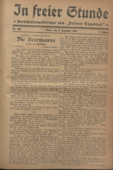 """In Freier Stunde : Unterhaltungsbeilage zum """"Posener Tageblatt"""". Jg.2, Nr. 283 (8 Dezember 1928)"""