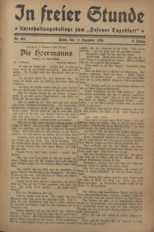 """In Freier Stunde : Unterhaltungsbeilage zum """"Posener Tageblatt"""". Jg.2, Nr. 284 (11 Dezember 1928)"""