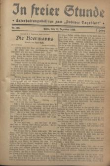 """In Freier Stunde : Unterhaltungsbeilage zum """"Posener Tageblatt"""". Jg.2, Nr. 285 (12 Dezember 1928)"""