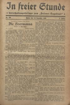 """In Freier Stunde : Unterhaltungsbeilage zum """"Posener Tageblatt"""". Jg.2, Nr. 289 (16 Dezember 1928)"""