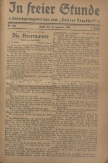 """In Freier Stunde : Unterhaltungsbeilage zum """"Posener Tageblatt"""". Jg.2, Nr. 290 (18 Dezember 1928)"""