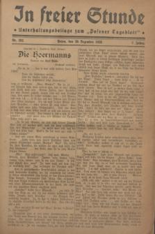 """In Freier Stunde : Unterhaltungsbeilage zum """"Posener Tageblatt"""". Jg.2, Nr. 292 (20 Dezember 1928)"""