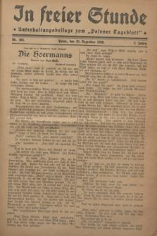 """In Freier Stunde : Unterhaltungsbeilage zum """"Posener Tageblatt"""". Jg.2, Nr. 293 (21 Dezember 1928)"""