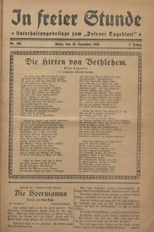 """In Freier Stunde : Unterhaltungsbeilage zum """"Posener Tageblatt"""". Jg.2, Nr. 296 (25 Dezember 1928)"""