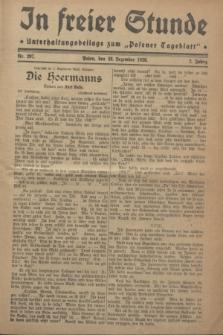 """In Freier Stunde : Unterhaltungsbeilage zum """"Posener Tageblatt"""". Jg.2, Nr. 297 (28 Dezember 1928)"""