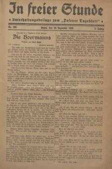 """In Freier Stunde : Unterhaltungsbeilage zum """"Posener Tageblatt"""". Jg.2, Nr. 298 (29 Dezember 1928)"""