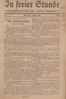 "In Freier Stunde : Unterhaltungsbeilage zum ""Posener Tageblatt"". Jg.3, Nr. 1 (1 Januar 1929)"