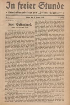 "In Freier Stunde : Unterhaltungsbeilage zum ""Posener Tageblatt"". Jg.3, Nr. 2 (3 Januar 1929)"