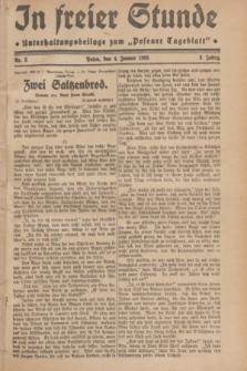 "In Freier Stunde : Unterhaltungsbeilage zum ""Posener Tageblatt"". Jg.3, Nr. 3 (4 Januar 1929)"
