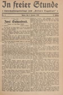 "In Freier Stunde : Unterhaltungsbeilage zum ""Posener Tageblatt"". Jg.3, Nr. 4 (5 Januar 1929)"